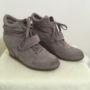 ASH Limited Edition Bowie Wedge Sneaker In Taupe